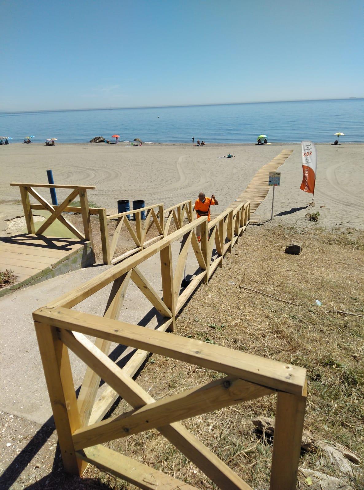 Acceso playa de la torre 3