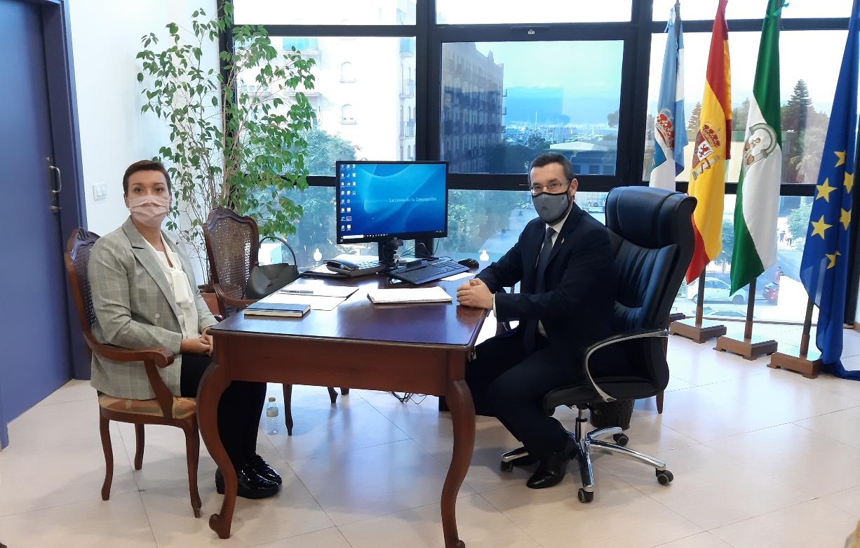 Alcalde Juan Franco y Gemma Araujo
