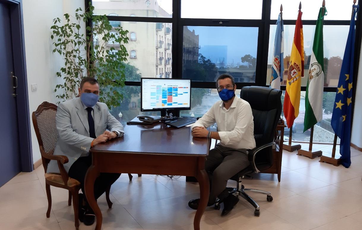 Alcalde y Juan Jose Sanz delegado exteriores en Campo de Gibraltar