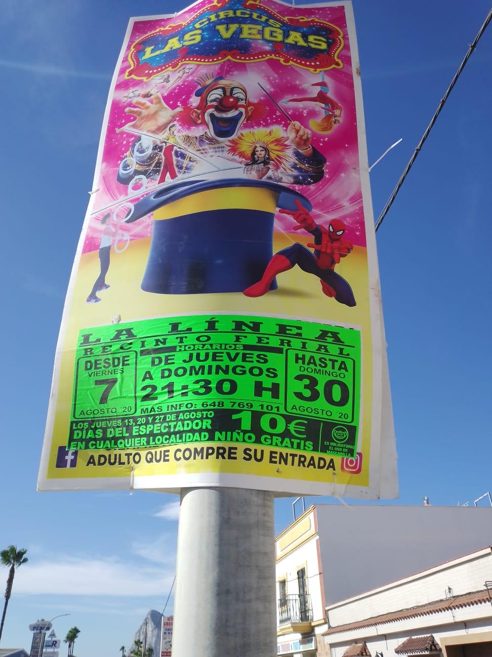Cartel circo anulado