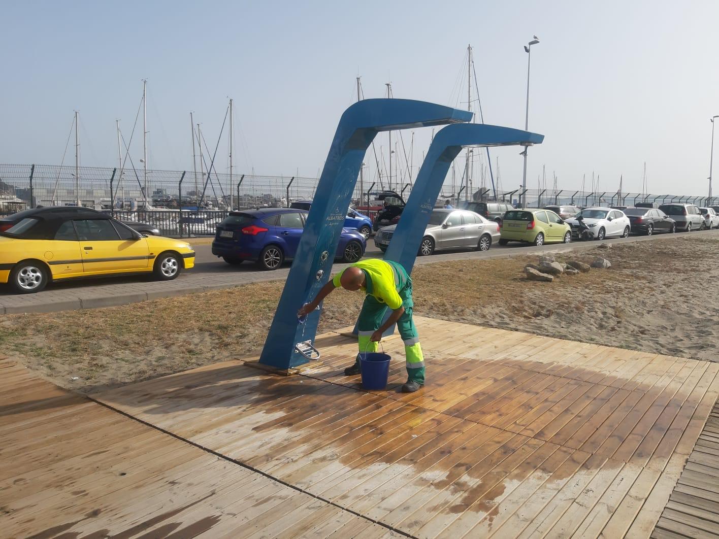 Desinfeccion duchas playas