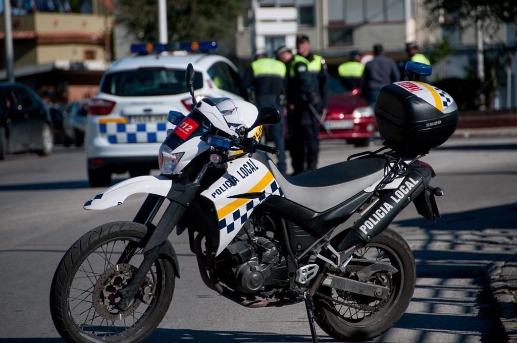 Moto control policia local