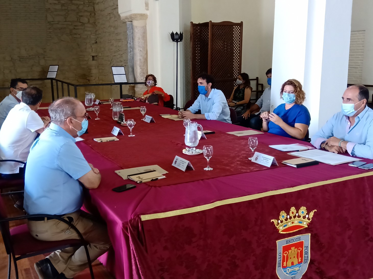 Reunion municipios sobre alga invasora