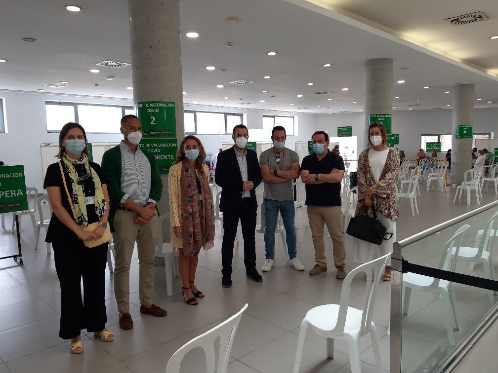 Visita vacunacion Palacio Congresos