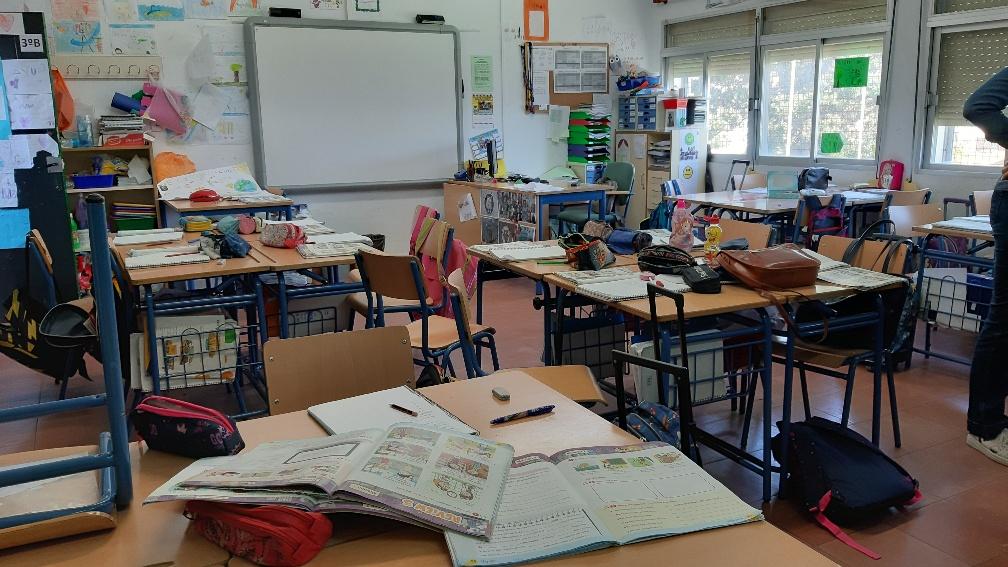 clase escolar vacia
