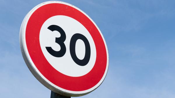 limite de velocidad 30 kmh