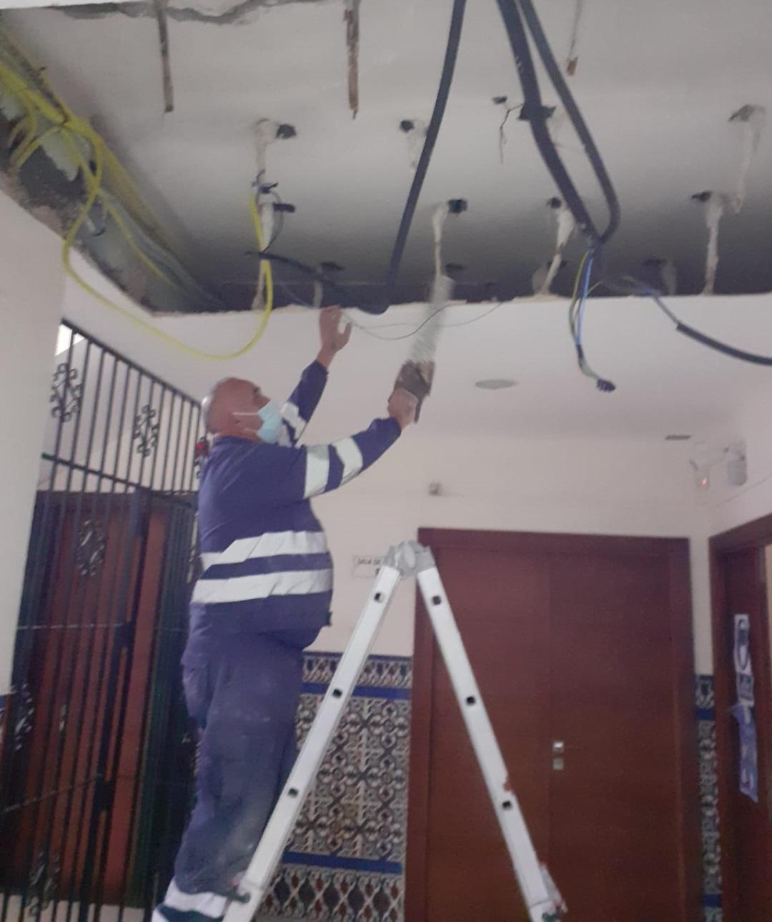 arreglo techos centro de profesores