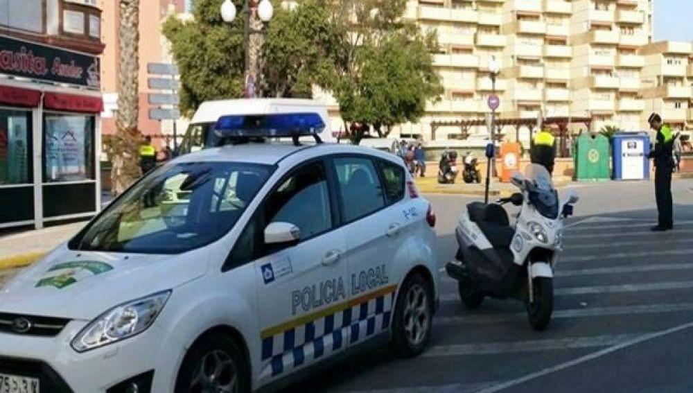 policia local realiza una campana de control de velocidad en la linea